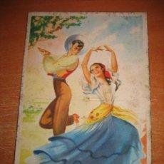 Postales: BAILES ANDALUCES Nº 4 BOLERO POSTAL MADRID. Lote 31185703