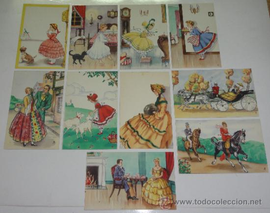 LOTE 10 POSTALES DIBUJOS Y CARICATURAS (Postales - Dibujos y Caricaturas)