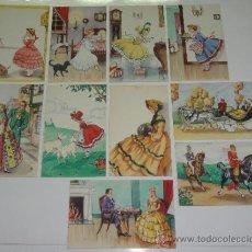 Postales: LOTE 10 POSTALES DIBUJOS Y CARICATURAS. Lote 31684678