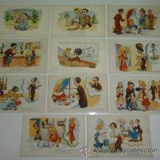 Postales: LOTE 11 POSTALES DIBUJOS Y CARICATURAS - EDICIONES PABLO DUMMATXEN . Lote 31685180