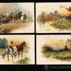 Postales: LOTE 4 POSTALES DIBUJOS Y CARICATURAS - IN THE COUNTRY - TUCK'S POSTCARD. SERIE Nº 4093. Lote 31696597