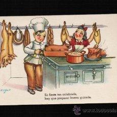 Postales: POSTAL DIBUJOS Y CARICATURAS - MUCHAS FELICIDADES - CMB. SERIE 60 - ZSOLT. Lote 31784507