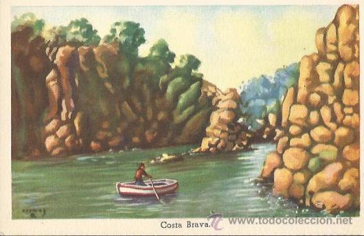 *** E1191 - POSTAL - COSTA BRAVA - SIN CIRCULAR (Postales - Dibujos y Caricaturas)