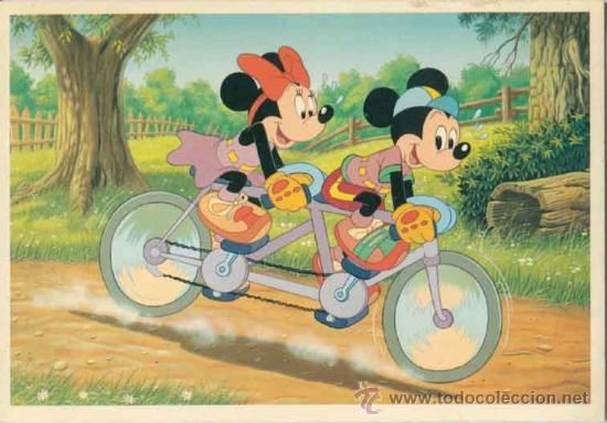 POSTAL DISNEY - DISNEYLAND - MINNIE Y MICKEY (Postales - Dibujos y Caricaturas)