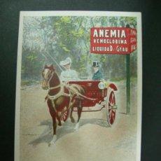 Postales: POSTAL ILUSTRADA DE CARLOS VAZQUEZ - ANEMIA HEMOGLOBIAN DR ANDREU - SPORT 9 - CHARRET. Lote 31992482