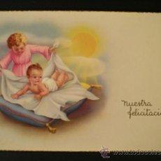 Postales: 6039D - EDICIONES CYZ - SERIE 523 - NUESTRA FELICITACIÓN - DATA 1955. Lote 32097330