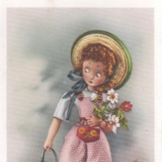 Postales: POSTAL DE C Y Z -MUÑECA REGANDO LAS FLORES - Nº 529 . Lote 32818108