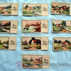 Postales: 10 PEQUEÑAS POSTALES DE FELICITACIÓN - AÑOS 50 - ILUSTRA ROGELIO LOPEZ - MEDIDAS: 11,5 X 5,8 CM. Lote 33319776