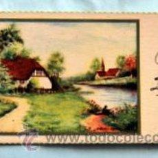 Postales: PEQUEÑA POSTAL DE FELICITACIÓN - AÑOS 50 - ILUSTRADA ROGELIO LÓPEZ - MEDIDAS: 11,7 X 5,5 CM. Lote 33320294
