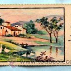 Postales: PEQUEÑA POSTAL DE FELICITACIÓN -AÑOS 50- PAISAJE ILUSTRADA ROGELIO LÓPEZ - MEDIDAS: 11,7 X 5,5 CM. Lote 33320436