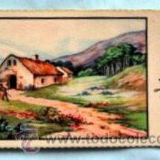 Postales: PEQUEÑA POSTAL DE FELICITACIÓN -AÑOS 50- PAISAJE ILUSTRADA ROGELIO LÓPEZ - MEDIDAS: 11,7 X 5,5 CM. Lote 33320479