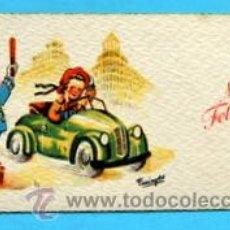 Postales: PEQUEÑA POSTAL DE FELICITACIÓN -AÑOS 50- ILUSTRA FARINYES - MEDIDAS: 11,5 X 5,5 CM. Lote 33321647