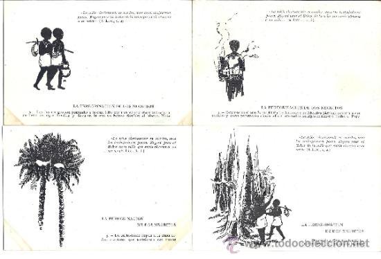 PS3133 LOTE DE 16 POSTALES ILUSTRADAS DEL CUENTO 'LA PEREGRINACIÓN DE DOS NEGRITOS'. SIN CIRCULAR (Postales - Dibujos y Caricaturas)