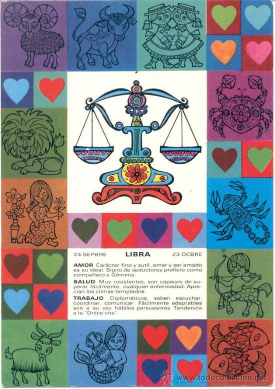 DIBUJO HOROSCOPO LIBRA (Postales - Dibujos y Caricaturas)