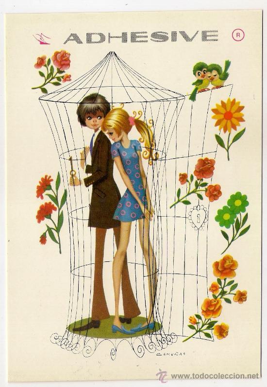 44412 Postal Dibujo Niños Enamorados Ilustrac Comprar Postales