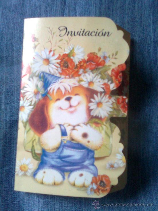 Tarjeta Invitación Infantil Perrito Vintage 90 S
