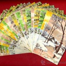 Postales: LOTE DE 25 TARJETAS POSTALES TEMA PAISAJES NAVIDAD FELICITACION , 6 DIFERENTES , ORIGINALES. L8. Lote 34884812