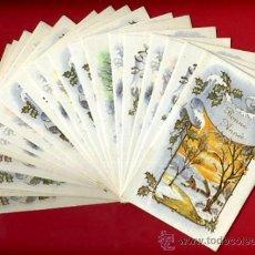 Postales: LOTE DE 25 TARJETAS POSTALES TEMA PAISAJES NAVIDAD FELICITACION , 6 DIFERENTES , ORIGINALES. L9. Lote 34884819