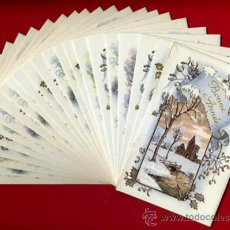 Postales: LOTE DE 25 TARJETAS POSTALES TEMA PAISAJES NAVIDAD FELICITACION , 6 DIFERENTES , ORIGINALES. L10. Lote 34884828