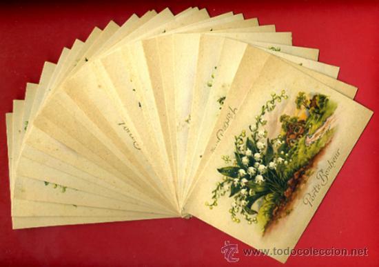 lote 25 tarjetas postalespaisajes navidad purpurina felicitacion 6 diferentes originales l11 - Postales Originales De Navidad