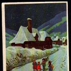 Postales: POSTAL DE NAVIDAD. BONNE ANNÉE. CIRCULADA 1910. Lote 34851679