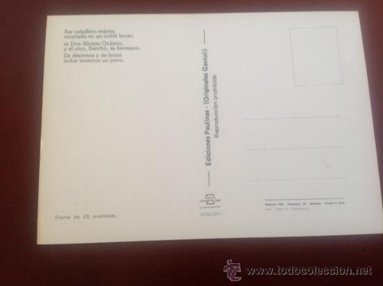 Postales: LOTE DE POSTALES EDICIONES PAULINAS ORIGINALES GAVIOLI - Foto 2 - 35068737