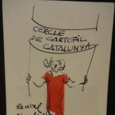 Postales: TEMA PAYASOS - CERCLE CARTÒFIL DE CATALUNYA Nº 6. ORIGINAL DE JOAN SOLER-JOVÉ. TIRADA 250 EJ.. Lote 35338326