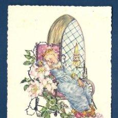 Postales: 6075B - EDICIONES KUNSTVERLAG MICHEL (KMN)Nº 1113 – (LA BELLA DURMIENTE) ILUSTRA ANNA MARIE SCHWARZ. Lote 36147700