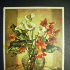Postales: 7943 DIBUJO PICTURE EUGEN SCHOCH FLORES FLOWERS FLOR CALLA UND AMARYLLIS AÑOS 70 TENGO MAS POSTALES. Lote 36517427