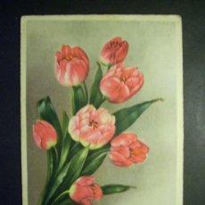 Postales: 7949 DIBUJO PICTURE FLORES FLOWERS FLOR FLOWERS POSTCARD AÑOS 10/30 ESCRITA - TENGO MAS POSTALES. Lote 36517670