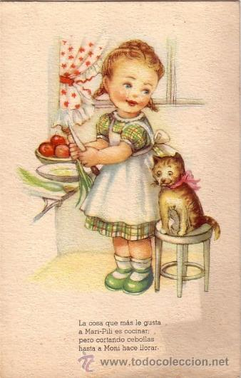 Ni a cocinando con gatito aventuras de mari p comprar - Nina cocinando ...