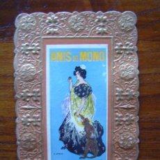 Postales: CARTEL DE ANIS DEL MONO DE RAMON CASAS - VICENTE BOSCH - BADALONA (VER IMAGEN) . Lote 37040073