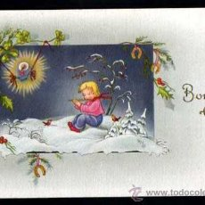 Postales: POSTAL INFANTIL. NAVIDAD. BONNE ANNÉE. CIRCULADA 1954. Lote 37040913