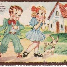 Postales: POSTAL FELICITACIÓN -- ESCRITA FECHADA 1945. Lote 37250295