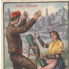 Postales: POSTAL EDICIONES CMB.- MOLTES FELICITATS.- BOLILLOS. Lote 37399410