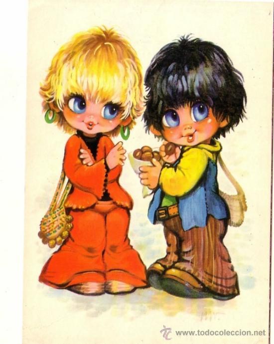 Niños Comiendo Castañas Bergas 1974 Kaufen Alte Postkarten Mit