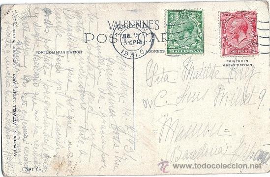 Postales: 2015E -VALENTINE'S ATTWELL - SERIE G - CIRCULADA EN 1931 - ILUSTRA -MABEL LUCIE ATTWELL. - Foto 3 - 38079403