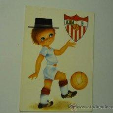 Postales: POSTAL FUTBOL SEVILLA -DIBUJO CASTAÑER. Lote 38506086