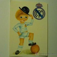 Postales: POSTAL REAL MADRID-FUTBOL DIBUJO CASTAÑER. Lote 38718457