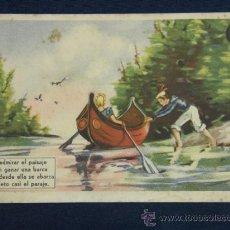 Postales: POSTAL Nº 18 AVENTURAS DE LOS HERMANOS FLORISOL SERIE A CREACIÓN JMA DIBUJOS GIRALT LERIN. Lote 116890468