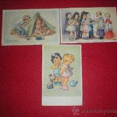 Postales: LOTE DE TRES BONITAS POSTALES ILUSTRADAS. . Lote 38805401