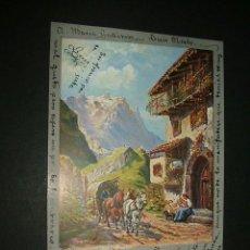 Postales: POSTAL 1903 ILUSTRADA CARRO E HILANDERA. Lote 39169163