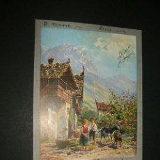 Postales: POSTAL 1903 ILUSTRADA NIÑOS Y CABRAS. Lote 39169178