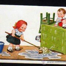 Postales: POSTAL ILUSTRADOR JOHN WILLS - ESCENA INFANTIL Y PERRO - ESCRITA 1935. Lote 39234428
