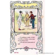 Postales: POSTAL COMICA COLECCION SATURNINO CALLEJA REVERSO SIN DIVIDIR. Lote 39438025