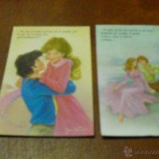 Postales: POSTAL COLECC. : PRIMER AMOR DE JOAN VERNET -2 UNIDADES-. Lote 39543300