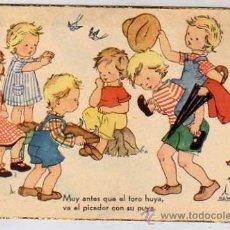 Postales: POSTAL ILUSTRADA. ILUSTRADOR M. D. SALMONS SERIE 52 JBR TEMÁTICA INFANTIL. . Lote 39556352