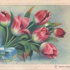Postales: POSTAL DE MOLTES FELICITATS - DE ZSLOT - FLORES - DE SIRENITA Nº 1027 - 1954. Lote 39882828