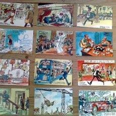 Postales: 12 TARJETAS POSTALES NUEVAS DE MINGOTE, AÑO 1969. SI LE TOCARA EL GORDO A ..... Lote 40167937