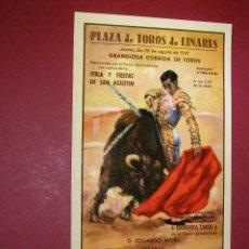 Postales: POSTAL CARTEL TOROS - LINARES AGOSTO 1947 - Nº 8 PASE NATURAL -. Lote 40489667